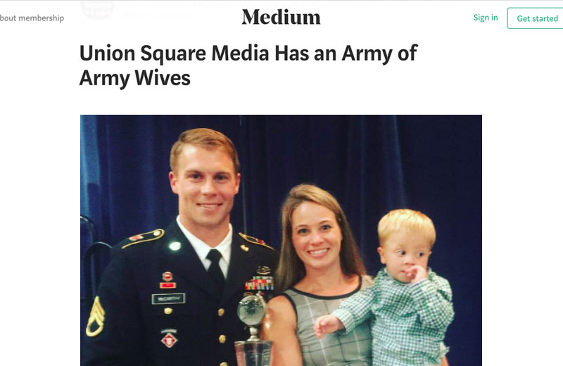 Union Square Media Has an Army of Army Wives